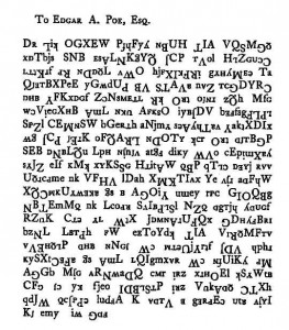 Edgar Allan Poe was fascinated by cryptography and codes.