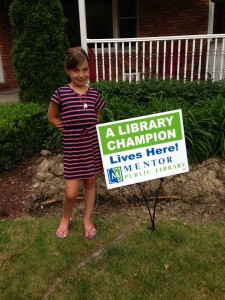 Congrats to Giselle and all of our Library Champs!