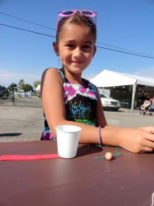 Kids could make a craft during our Flash Library at Concord Community Days