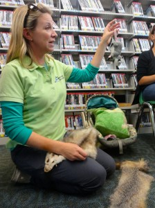 Naturalist Becky Donaldson explains that while opossum do have prehensile tails, they don't hand upside down to sleep.