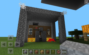 One of our Minecrafters made a Haunted House during our last meeting.