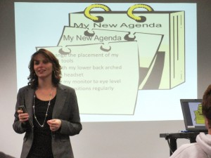 Dr. Misty Morris visited Mentor Library earlier this week to suggest ways people can maintain a healthy lifestyle.