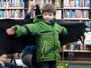 Gabriel compares his wingspan to a bald eagles.