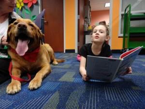 Dakota and Noni share a good book.