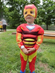 Oliver suited up as Iron Man for Marvelous Monday at Mentor Library.