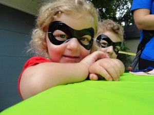 Violet and Roman came to Marvelous Mondays dressed as The Incredibles.