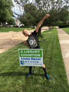 Become a Super Reader like Kyle during our summer reading program, Every Hero Has a Story.