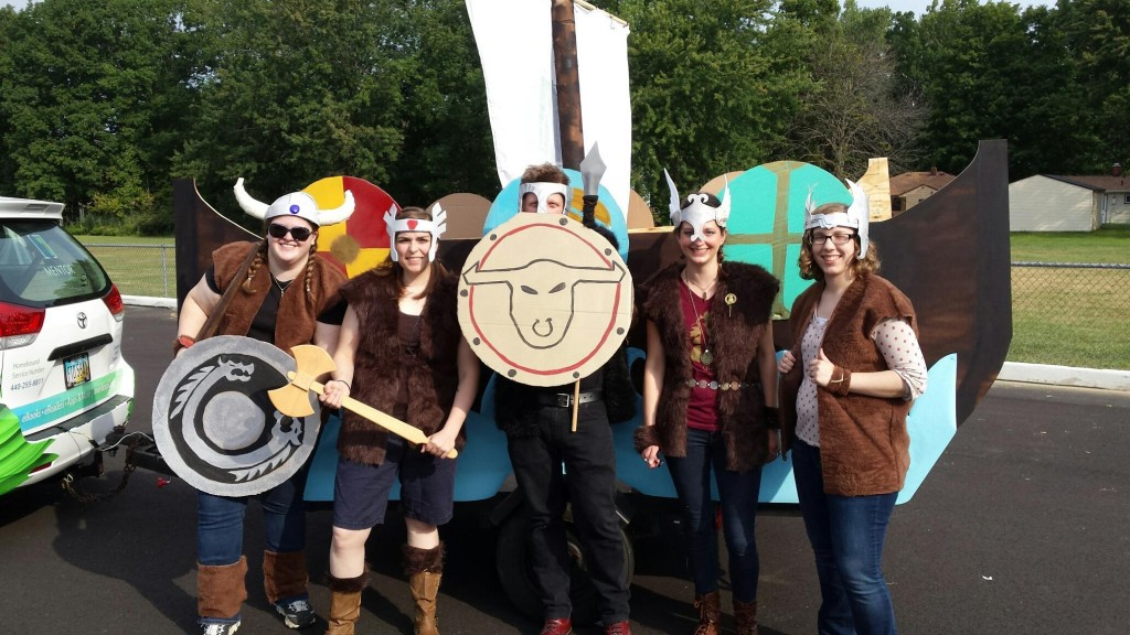Our mighty viking crew from the CityFest Parade