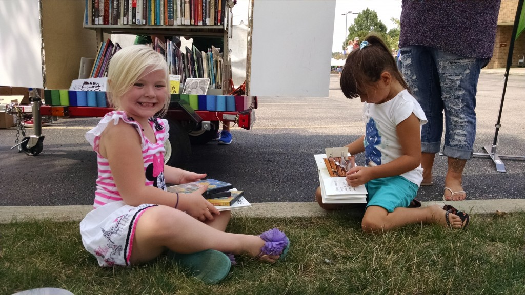 Jaelynn and Sophia read their books.
