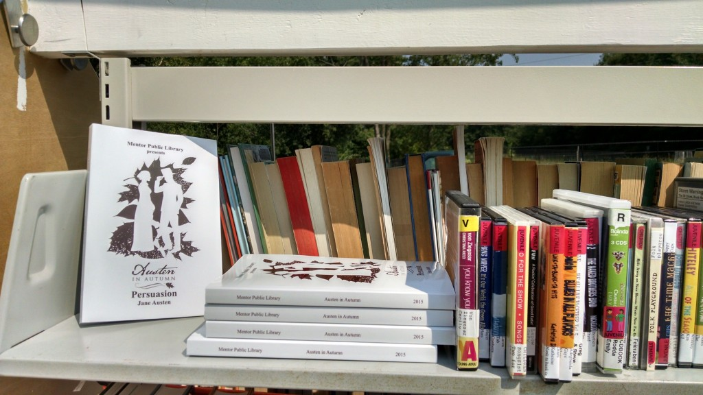 You can still find free copies of Persuasion, for now, at Mentor Public Library's branches.
