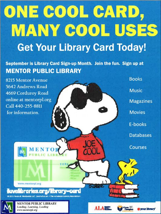 Joe Cool National Library Card Signup Month