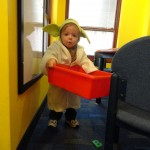 Adorable he is. Joseph came to Mentor Library dressed as the littlest Jedi.