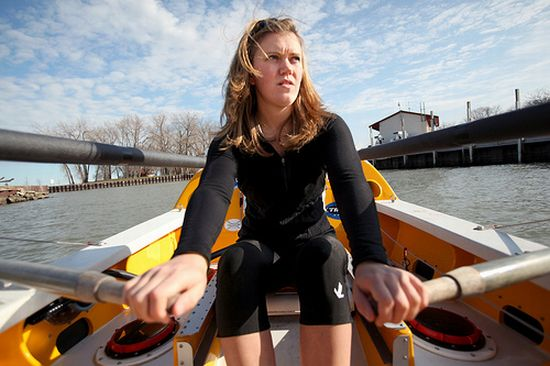 """Katie Spotz learned a lot while rowing across the Atlantic Ocean. She shares that knowledge in her new book, """"Just Keep Rowing."""""""