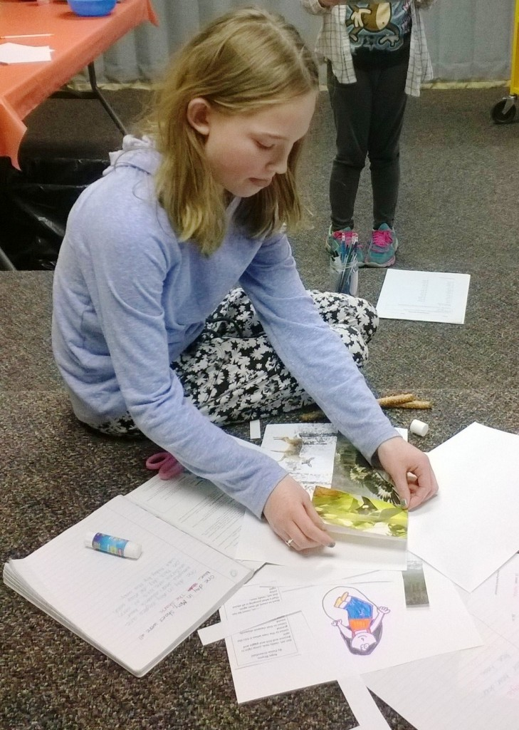 Lynn creates a picture collage to use as inspiration for her writing.