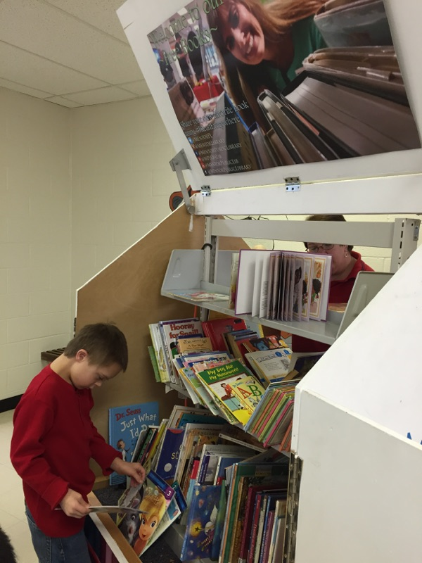 A student at Broadmoor School in Mentor browses our Pop-Up.