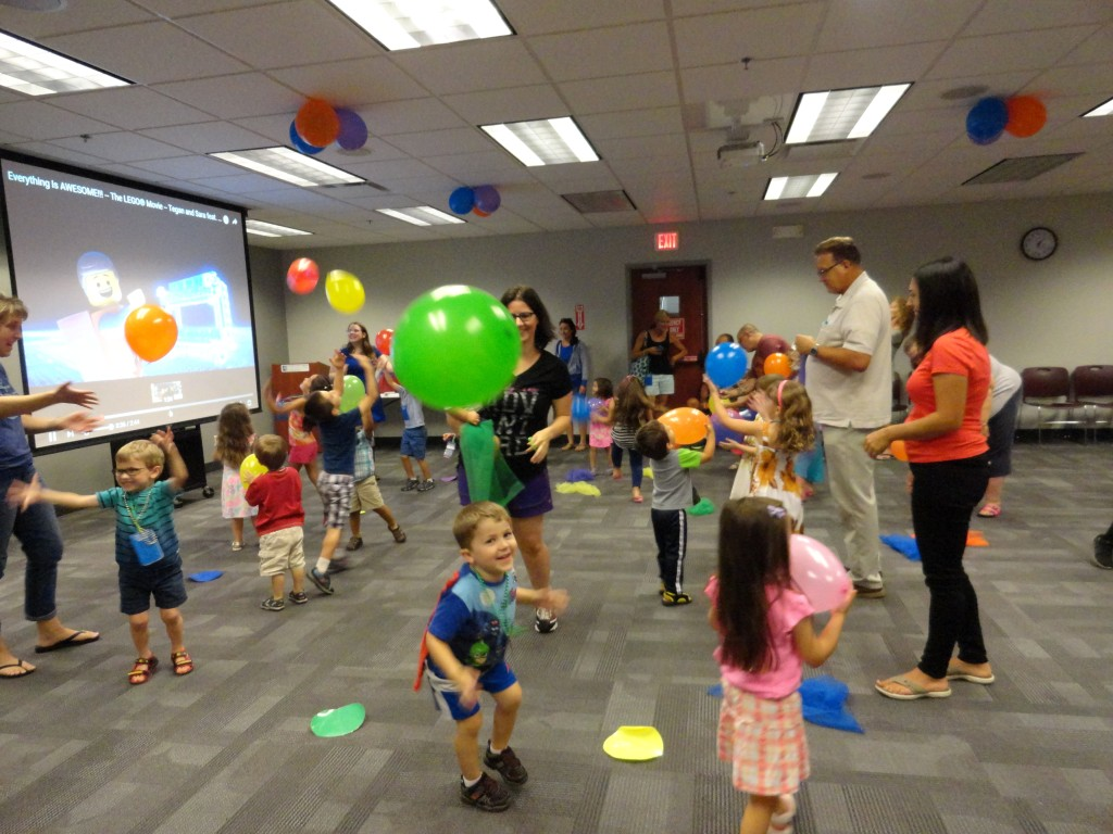 Everything is awesome when you add balloons to a dance party.
