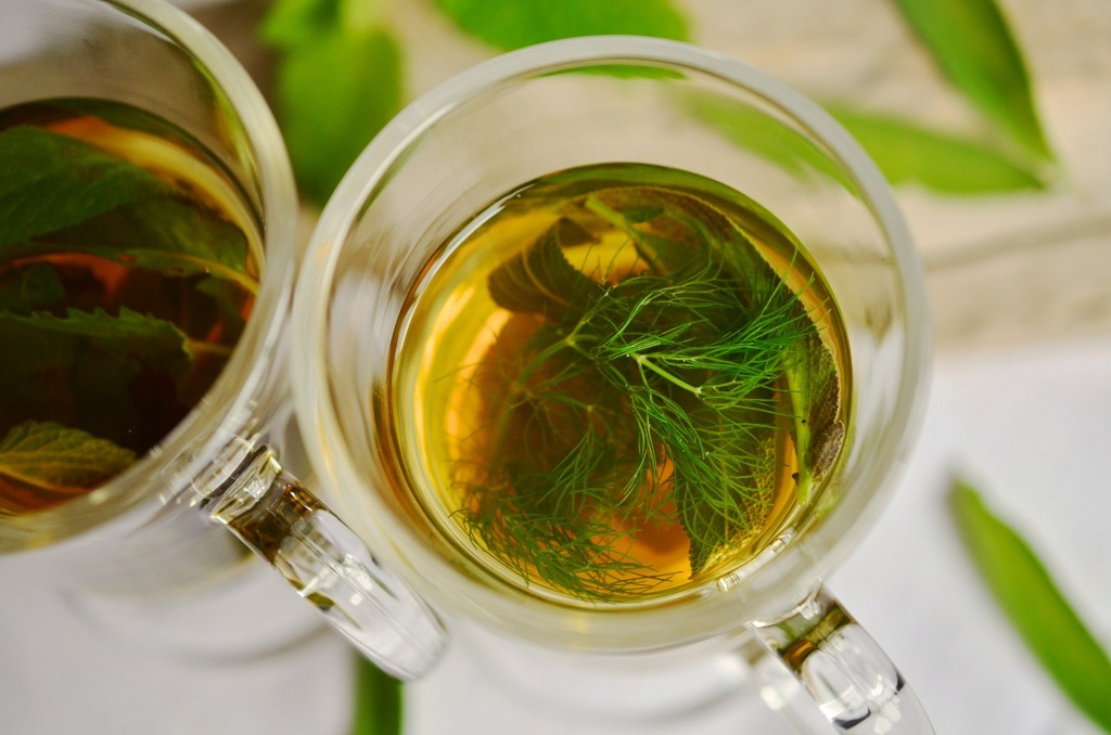 Make your own tea with herbs you grew yourself.