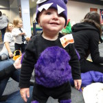 Ryland's a one-eye, one-horned, flying purple cutie pie.