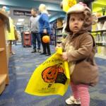 Ava has her treat bag ready.
