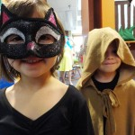 Juliana and Noah are ready for treats once story time is over.