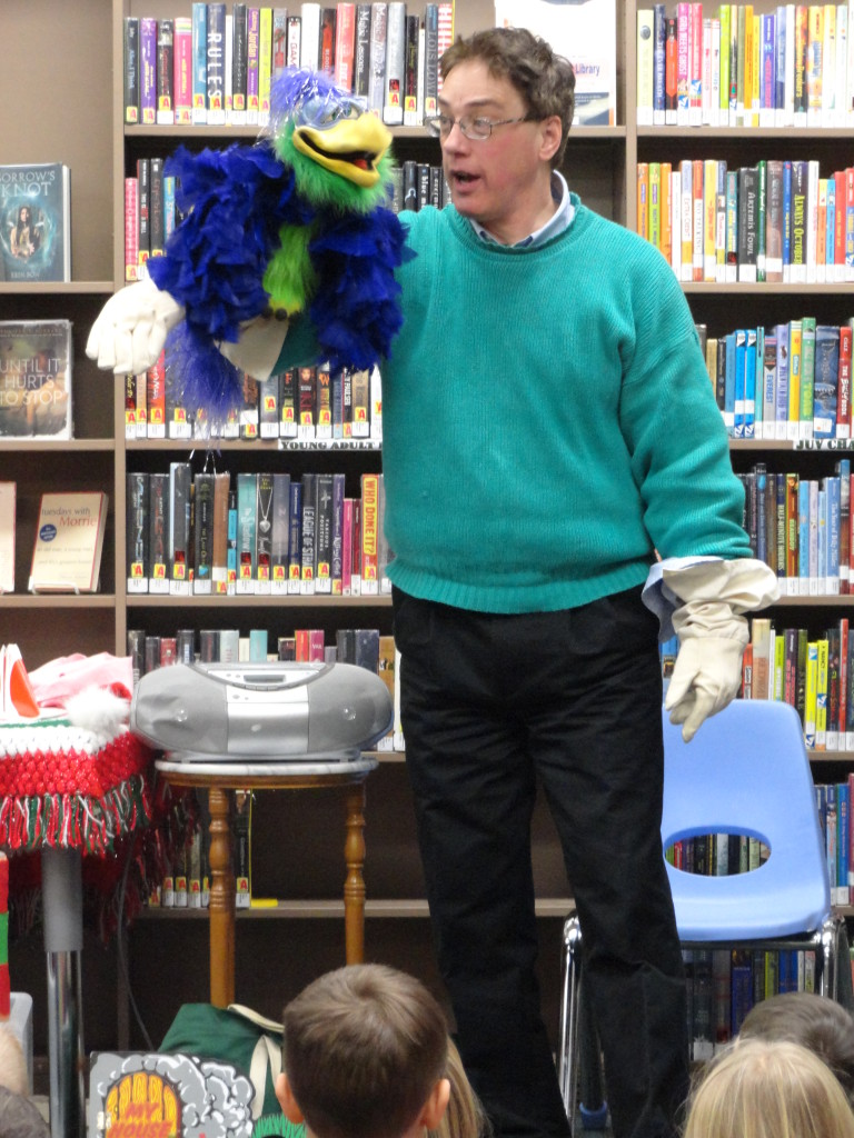 Vern the Bird will join Mr. Dennis during his annual Christmas comedy show on Monday, Dec. 12, at our Mentor Headlands Branch.