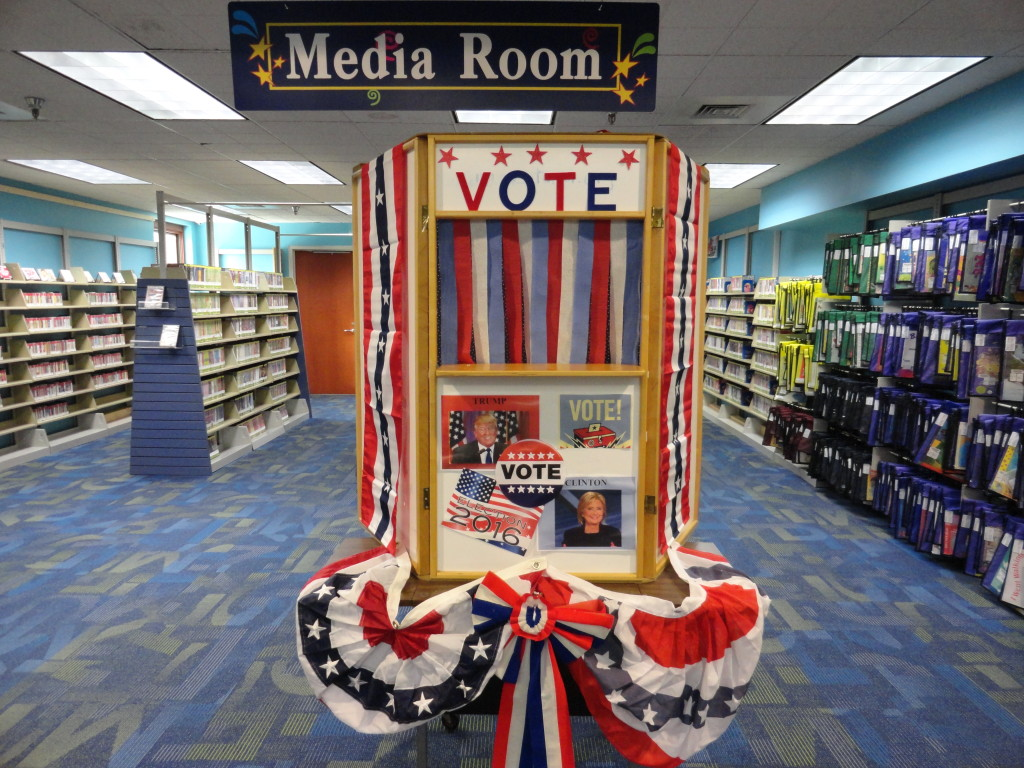 Kids can cast their vote any time between now and Election Day in the Children's Department of our Main Branch.