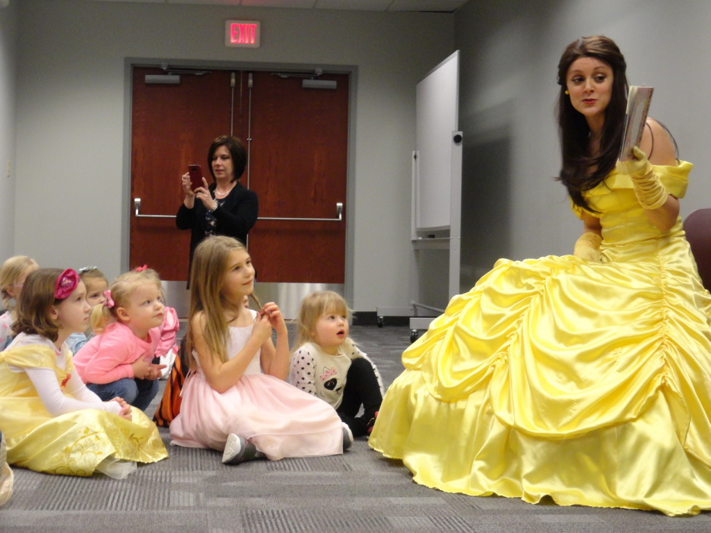 Belle (Allison Lehr) made our story time extra magical.
