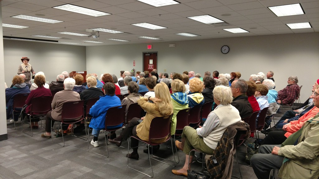 Dorothy Fuldheim played to a packed house when she visited Mentor Public Library.