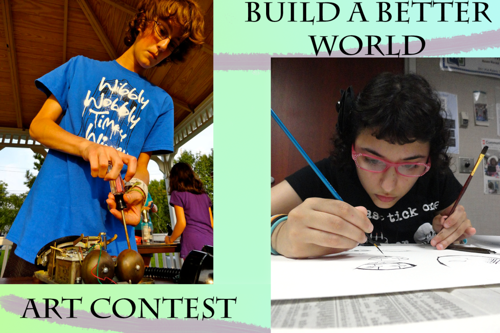 Show us how you would build a better world with your artwork.