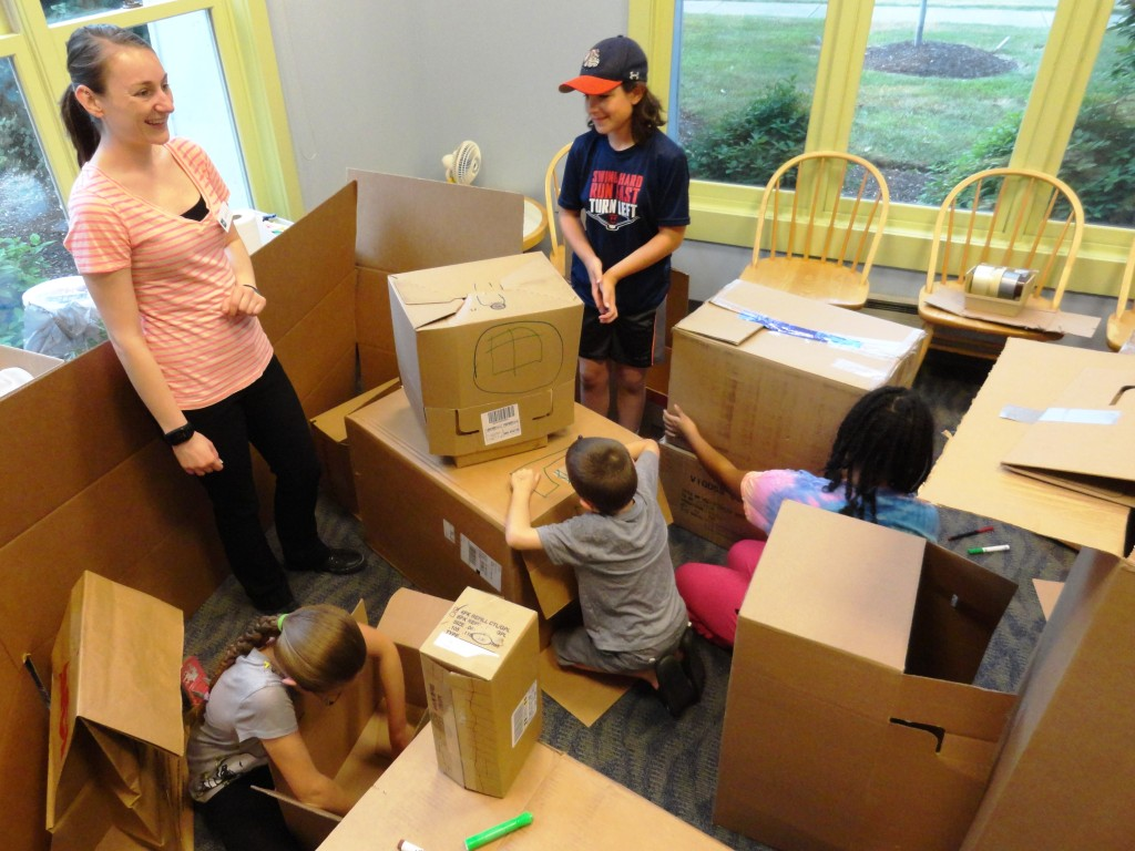 Kids transformed old cardboard into a Box Metropolis at our Lake Branch.
