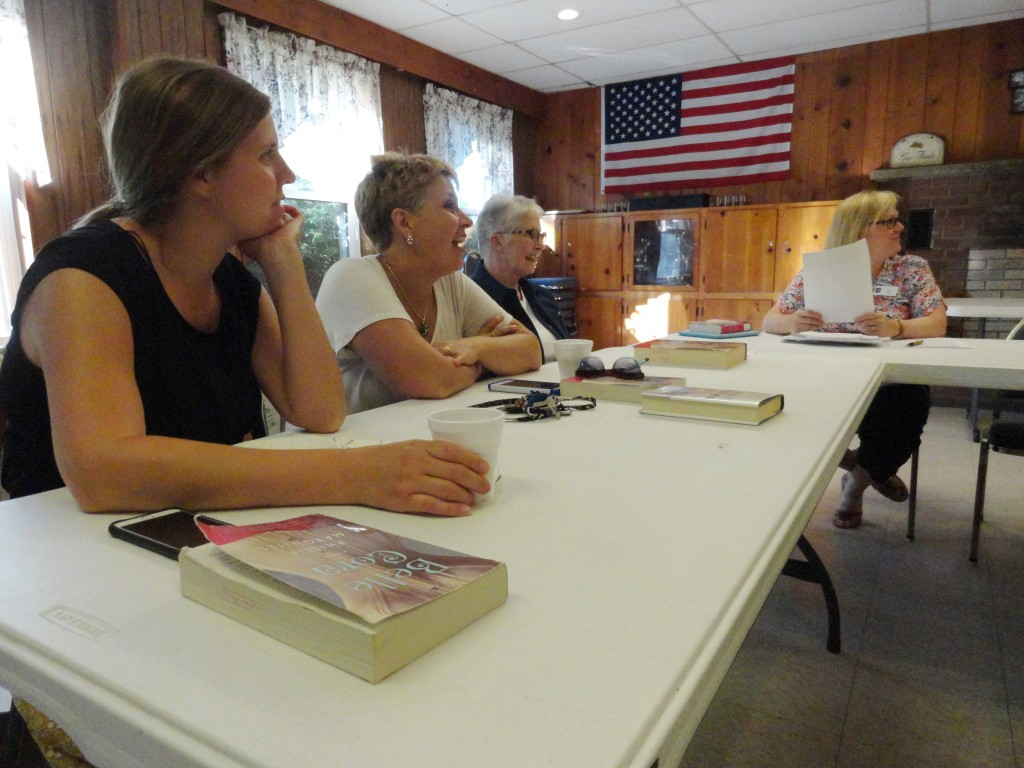 "Our Headlands Book Club discusses ""Belle Cora"" by Phillipa Margulies during its most recent meeting."