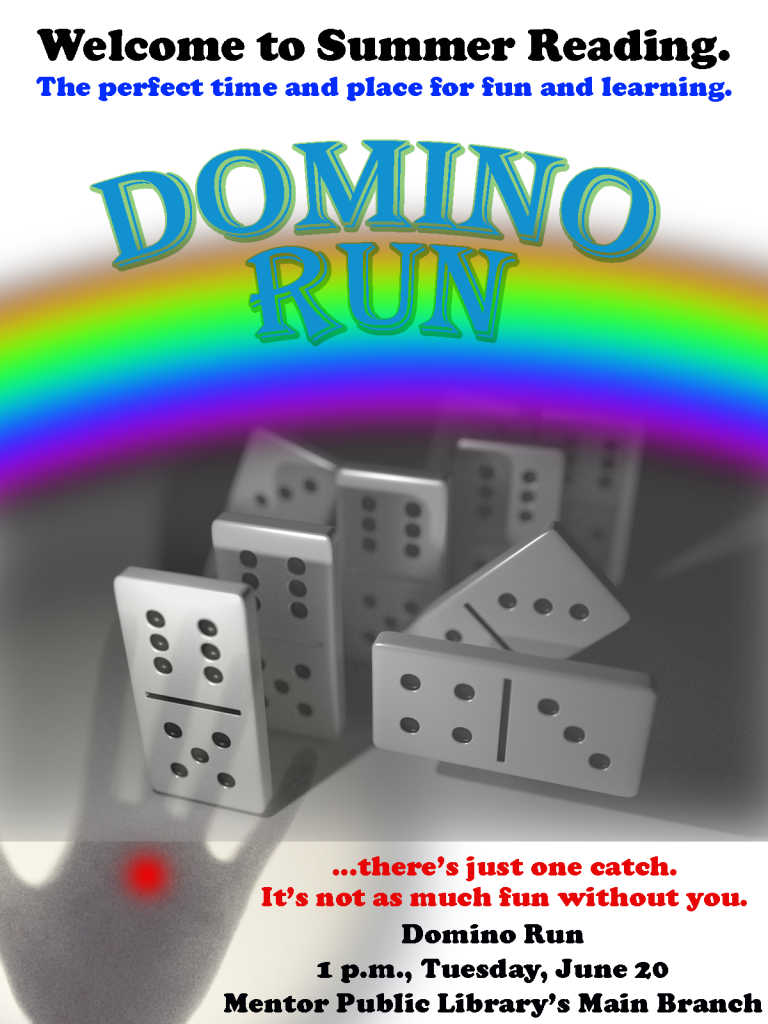 Domino Run poster text