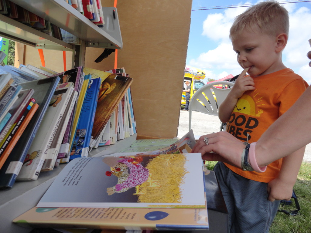 Families could pick up a book or two from our Pop-Up Library during Concord Community Days.