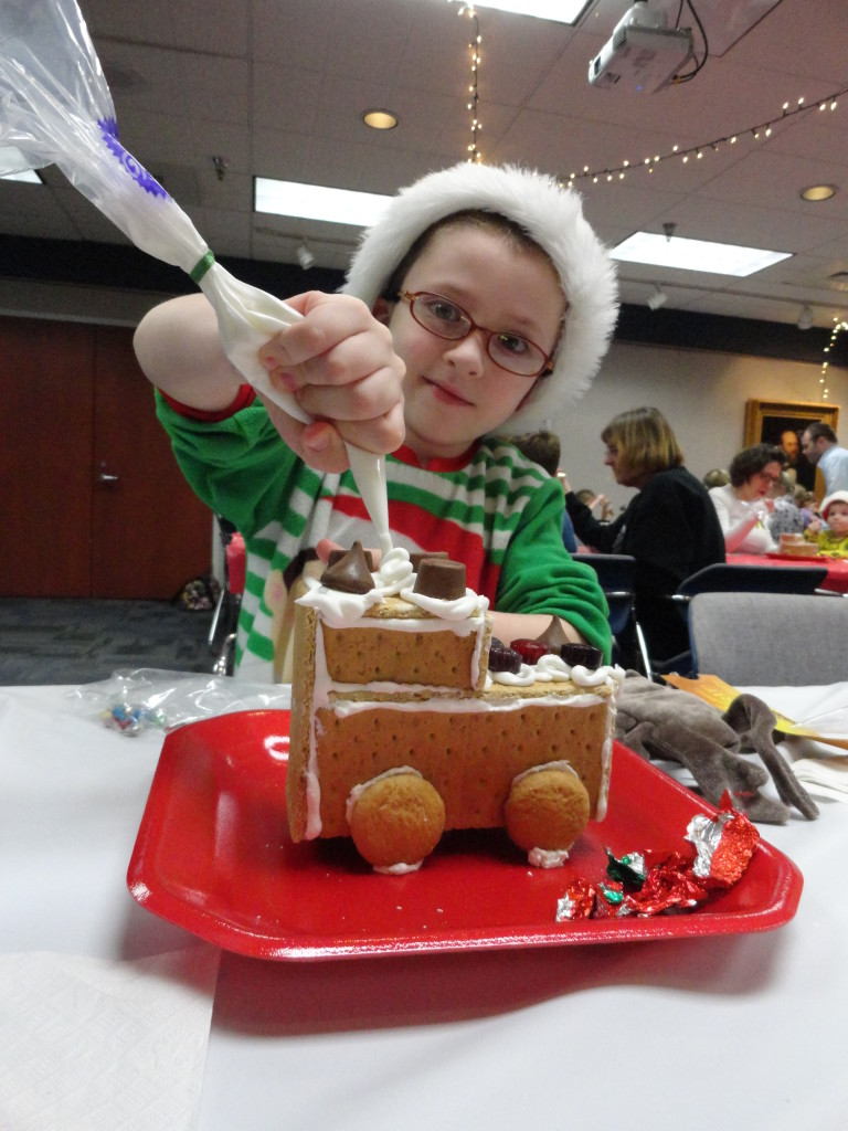 Kids can decorate graham-cracker houses on Monday, Nov. 27, at our Main Branch.