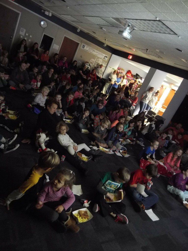 "Kids packed the room for our ""Peanuts Thanksgiving"" screening."