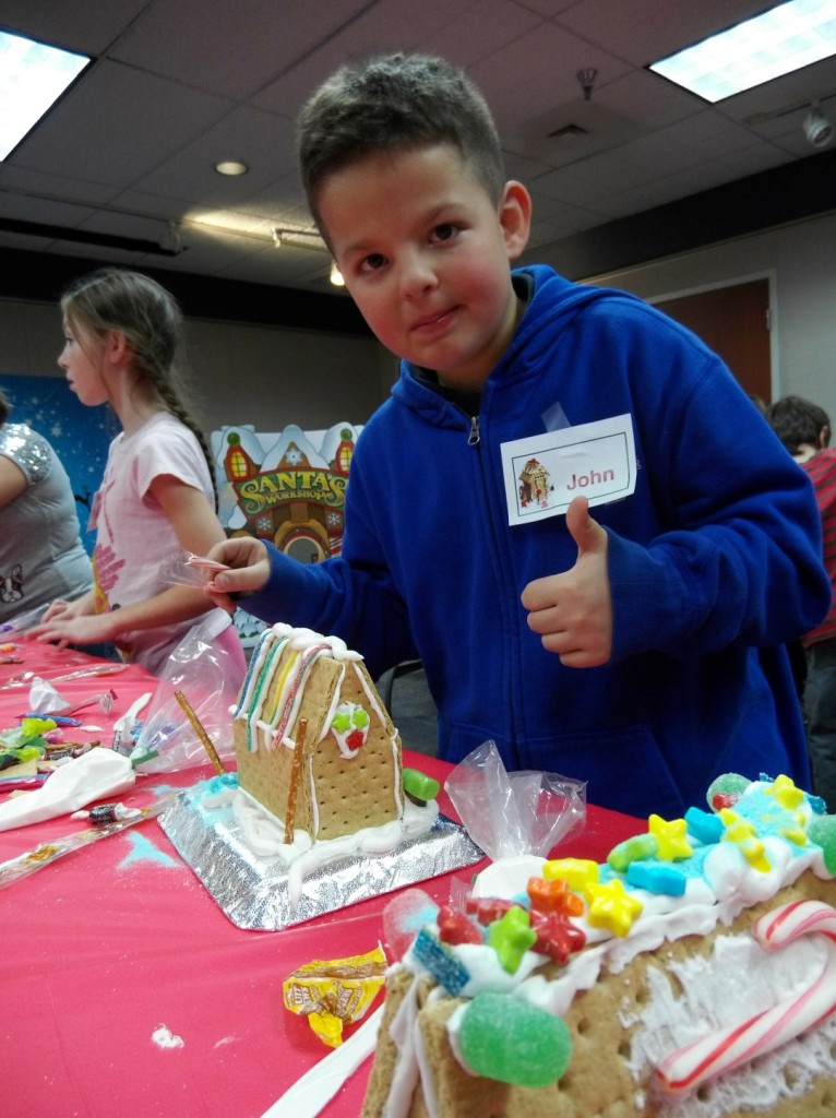 John approves of this graham-cracker house.