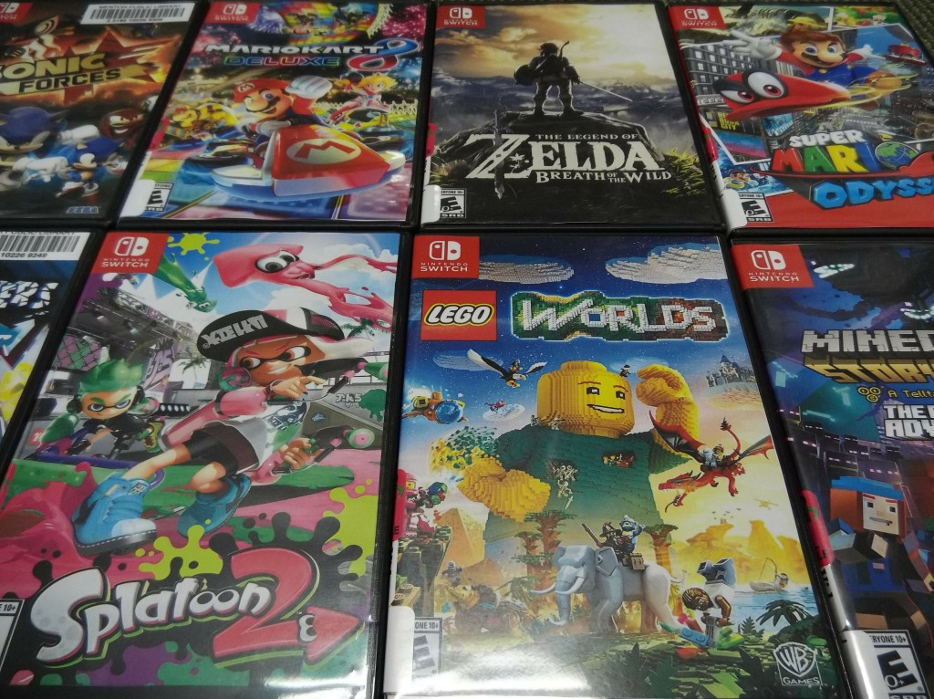 You can borrow Switch games like Super Mario Odyssey, The Legend of Zelda: Breath of the Wild, and Splatoon 2 from Mentor Public Library.