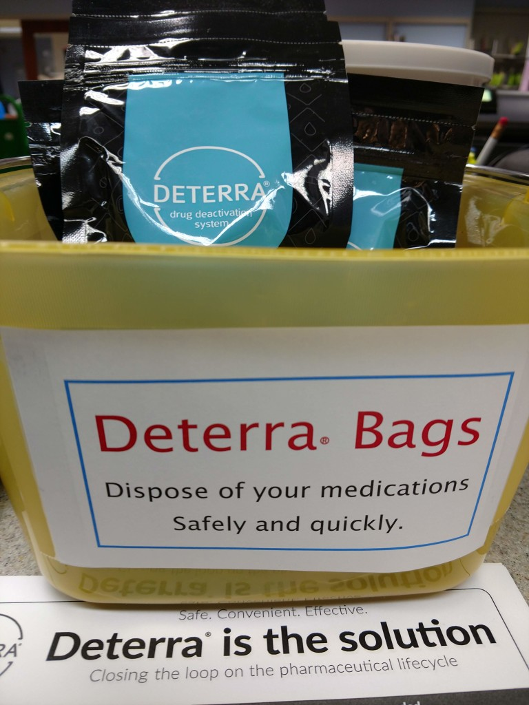 People can dispose of their old and unwanted prescription medication using the free Deterra bags available at Mentor Public Library.
