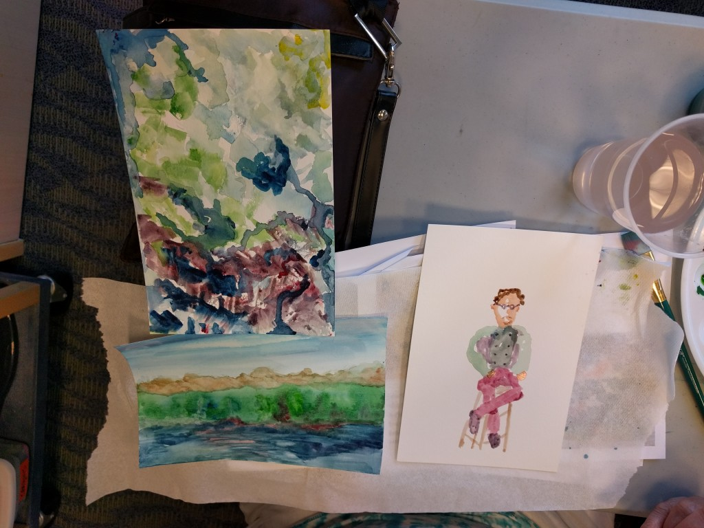The painters in our Watercolor Club experiment with abstraction and impressionism.
