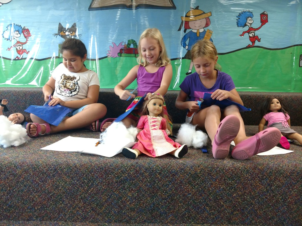 Our American Girl Book Club makes sit-upons.