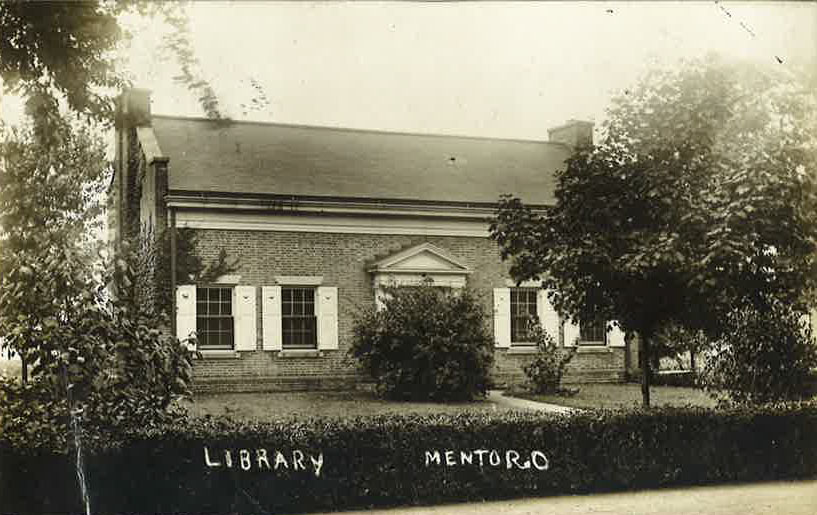 The first Mentor Public Library building, the architect of which was Abram Garfield -- son of the president.