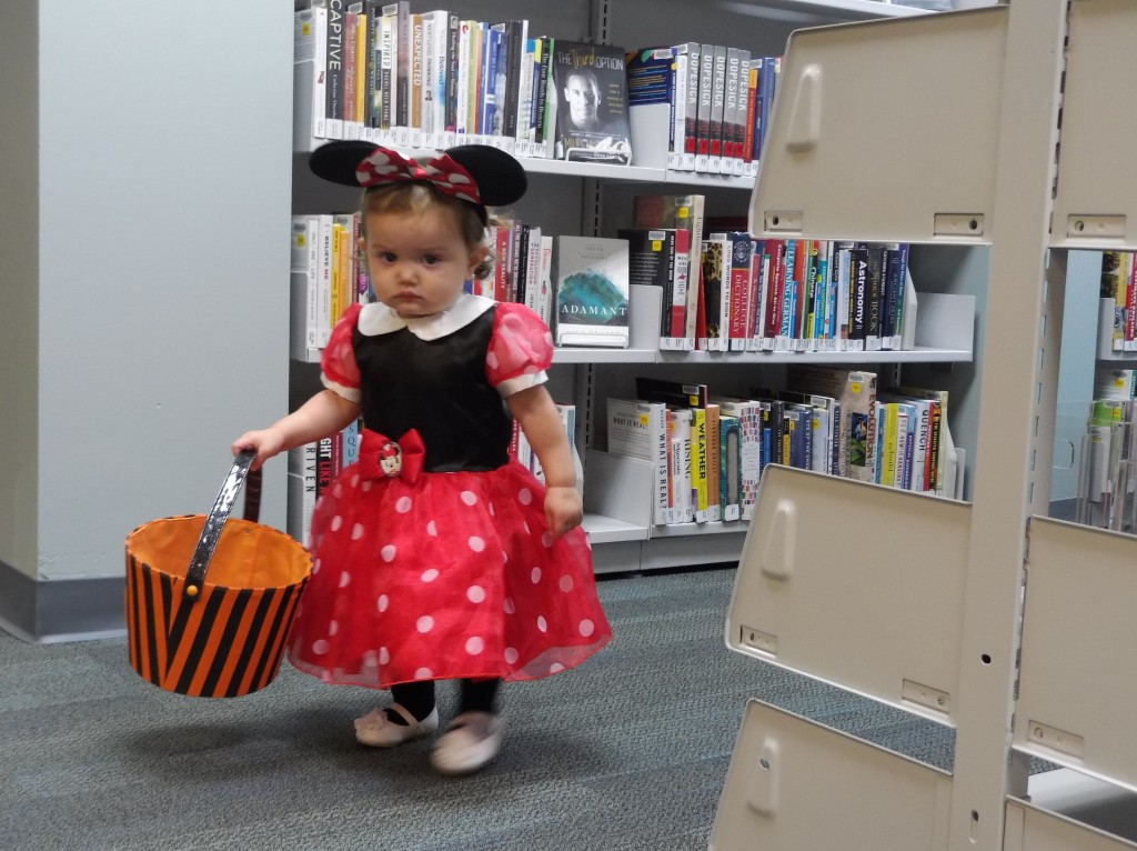 Minnie's on a candy hunt