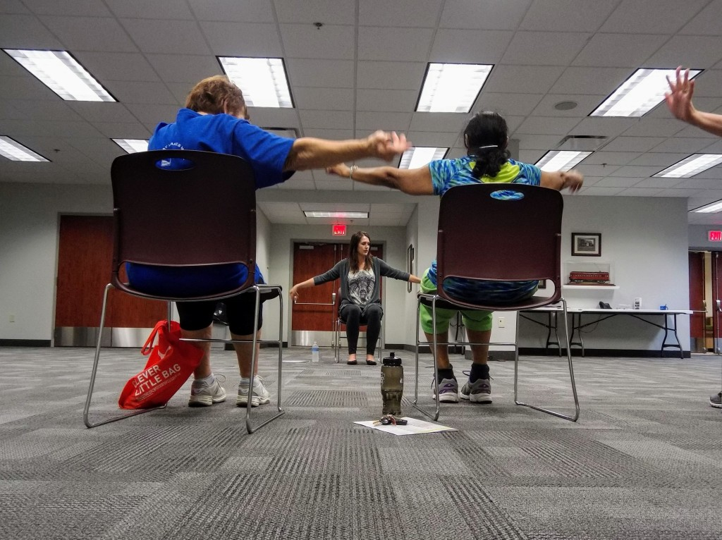 Enjoy a free session of chair yoga this Tuesday at Mentor Public Library's Main Branch.