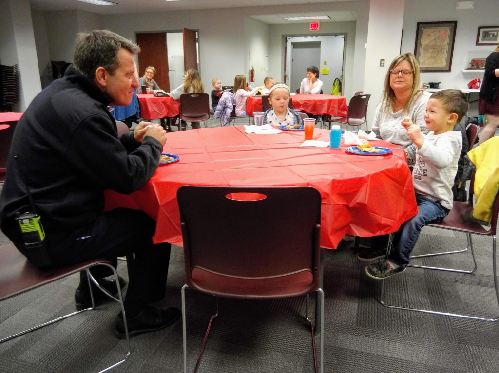 Our pals from the Mentor Fire Department had lunch this week with the winners from our Firehouse Friends raffle.