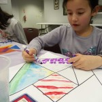 The kids had as much fun (or more) decorating their tangrams) as they did telling their tangram tales.