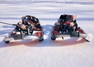 Kids can strap on snowshoes and have an adventure on Monday, Feb. 18, at our Lake Branch.