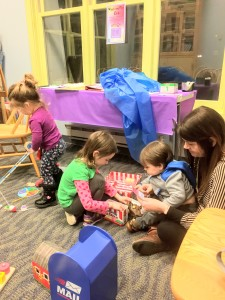 Half of our Wiggle & Play Club is dedicated to active play with educational toys.