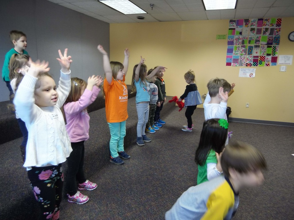 """Kids sing a rousing chorus of """"Leaves, Branches, Trunk & Roots"""" During the Tree Tale Tellers story time at our Main Branch."""
