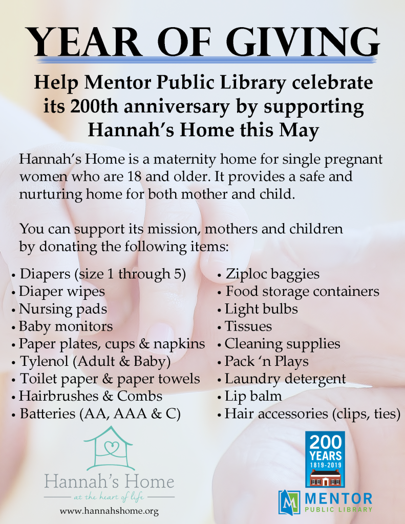 Year of Giving - Hannah's Home