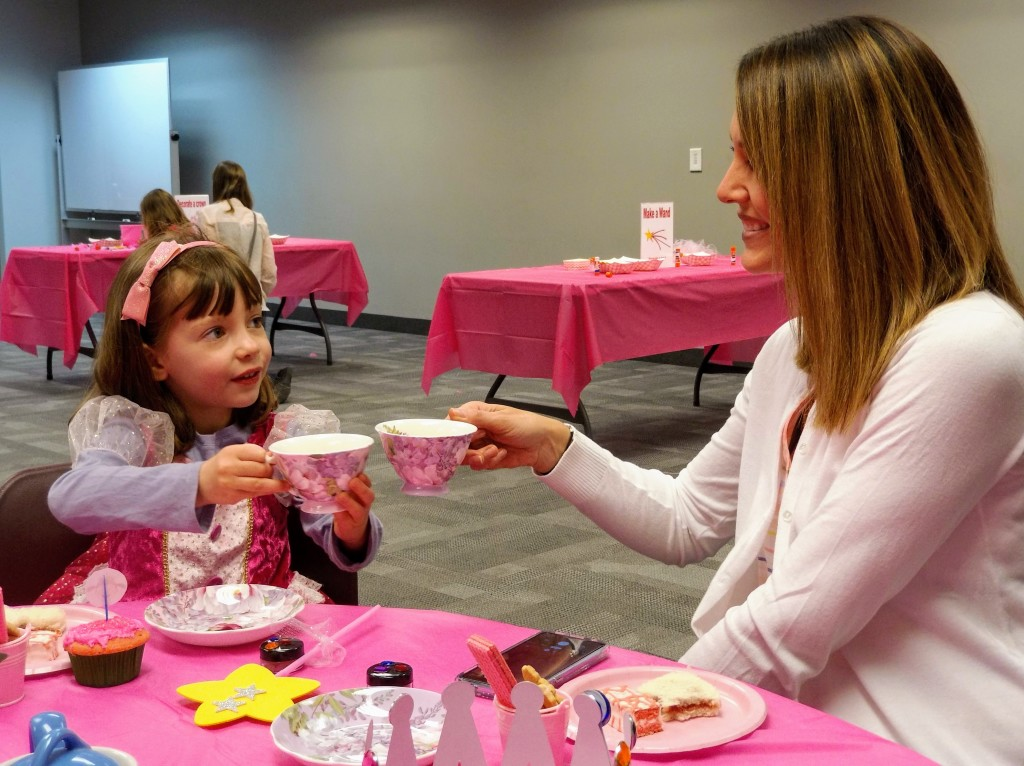 Cayleigh and her mom celebrate Mother's Day at our Pinkalicious Party